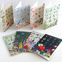 Pack of 8 - 'British Nature Guide' Collection of Note Cards