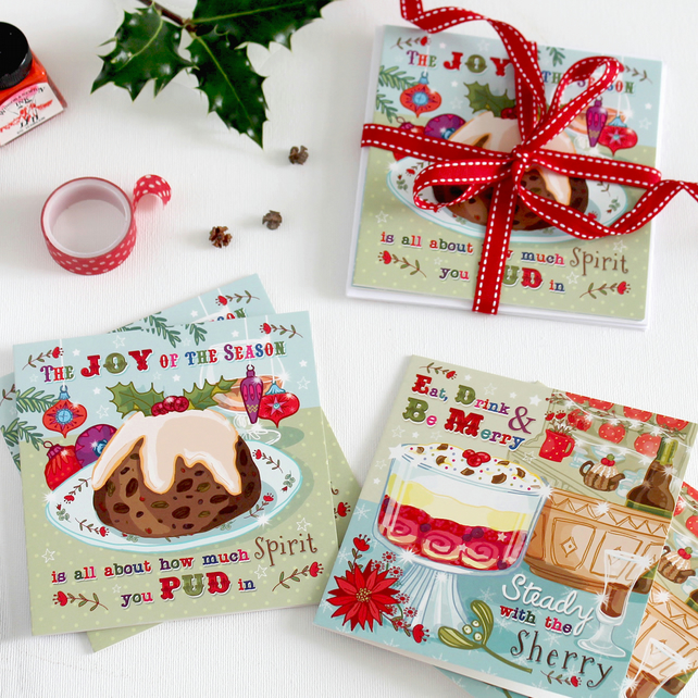 Christmas Card Pack of 6 - Sweet Christmas