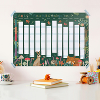 2019 Wall Planner - Plan a Wild and Wonderful Year (Jan to Dec 2019)