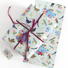 Gift Wrap Single Sheet with tag, British Garden Birds