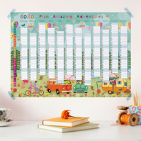 Year Wall Planner,  Plan Amazing Adventures for 2020