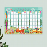 Year Wall Planner,  Plan Amazing Adventures for 2021