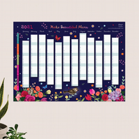 Year Wall Planner,  Make Beautiful Plans for 2021