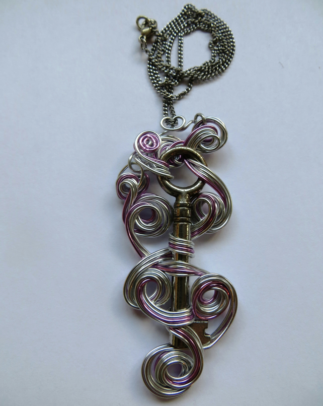 Wire Wrapped Key Pendant