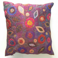 Stitched Cotton & Silk Cushion