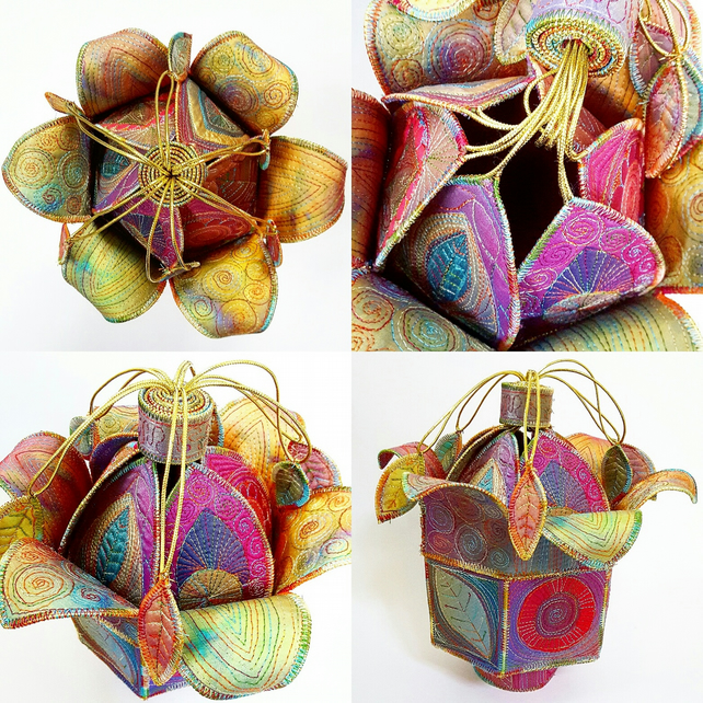 Textile Treasure Flower Pod