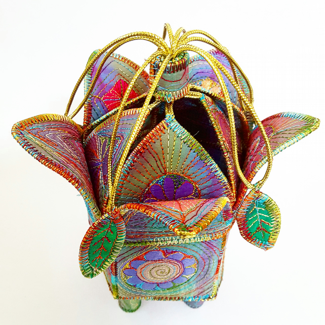 Textile Art Treasure Flower Pod