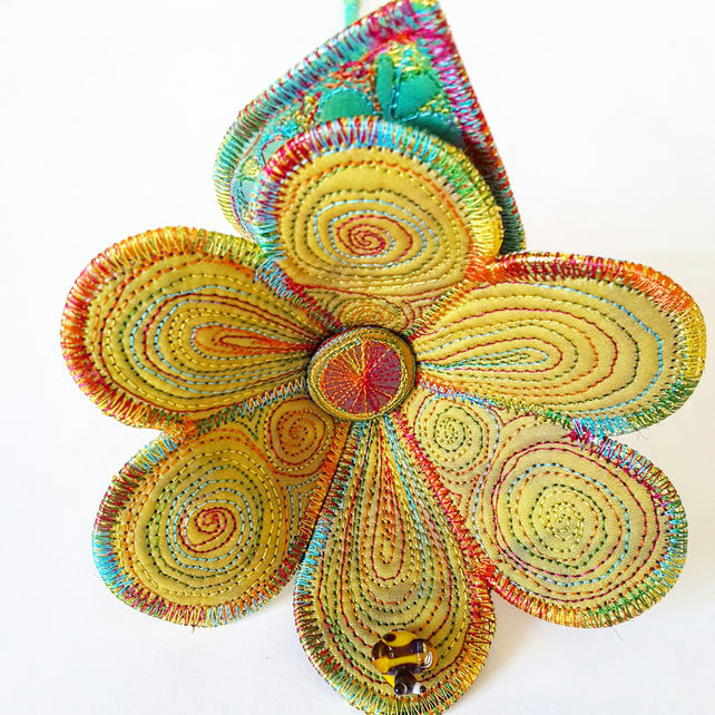 Stitched Silk Flower