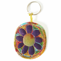 Freehand Embroidered  Keyring