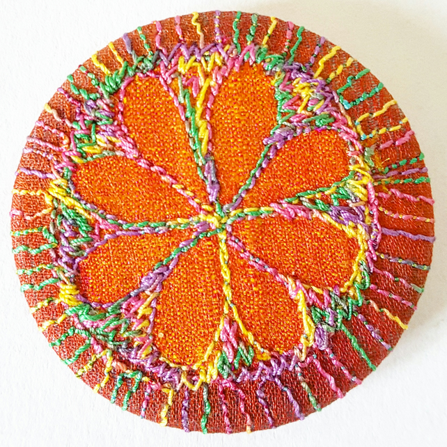 Stitched Silk Badge 45mm