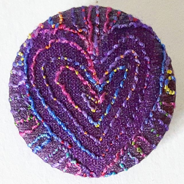 Stitched Silk Badge One Inch