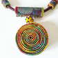 Statement Textile Spiral Necklace on Hand Dyed Rope