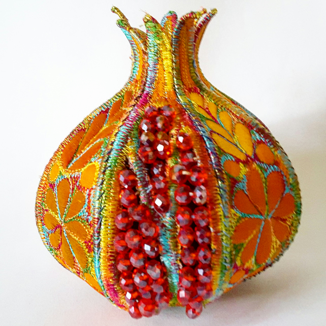 Pomegranate 3D Textile Art