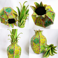 Pineapple, Textile Pineapple Container, Home Decoration