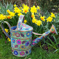 Textile Watering Can Life Size Watering Can Free Motion Embroidery
