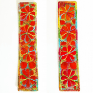 Textile Bookmark with Free Machine Embroidery
