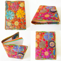 Rainbow Covered Textile Notebook including  Rainbow Notebook