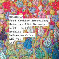 Free Machine Embroidery Workshop