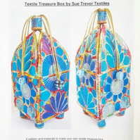 Instructions, Pattern and Fabric to make your own Textile Treasure Box