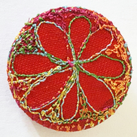 One Inch Stitched Silk Fabric Badge