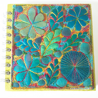 Square Sketchbook with Textile Cover 15cms