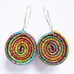 Textile Earrings Sterling Silver Earwires