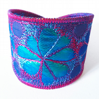 Marquise Shaped Textile Cuff