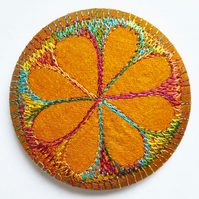 Stitched Silk Pocket Mirror
