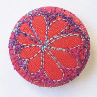 Stitched Silk One Inch Fabric Badge