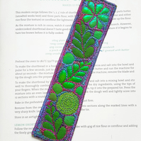 Free Machine Embroidery Bookmark