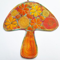 Toadstool Hanging Decoration Mushroom Wall Decor