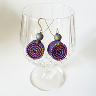 Textile Spiral Earrings