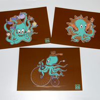Postcards - OctoSquidy Trio