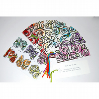 Knitter's Gift Tags - Mackintosh Roses