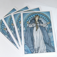 Christmas  Yule Cards - The Coming Of Winter