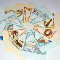 Postcards - Zodiac Set