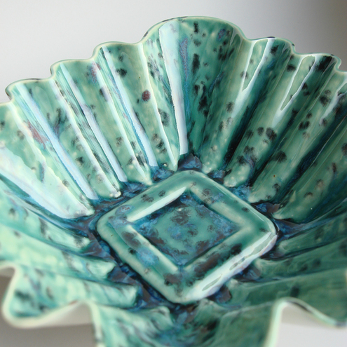 Green Square Ceramic Dish / Bowl