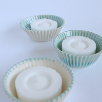 Ceramic Cup cake candle holders