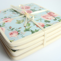 INC P&P - Set of 4  Patterned Coasters