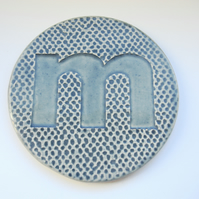 Personalised Ceramic Coasters -Letter m