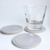 INC P&P - Set of 4 Lilac Button Coasters