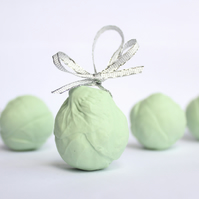 White Porcelain Sprout Christmas Decorations