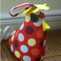 Funkee red spot chicken doorstop