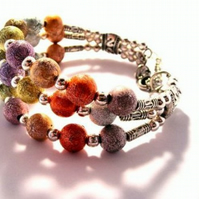 3 Band Stardust Beaded Bracelet