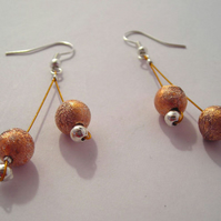 Brown Stardust Earrings (015)
