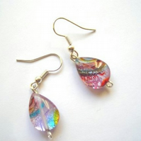 Stunning Tear Drop Multi Coloured Earrings