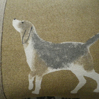 handprinted beagle hound cushion