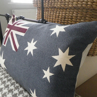 hand printed new 2012 Australian flag cushion