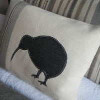 hand printed kiwi cushion