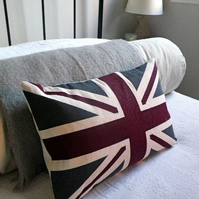 Hand printed New heritage union jack cushion
